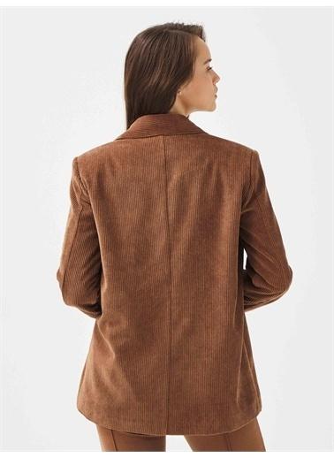 Xint XINT İki Düğmeli Rahat Kesim Ceket Camel